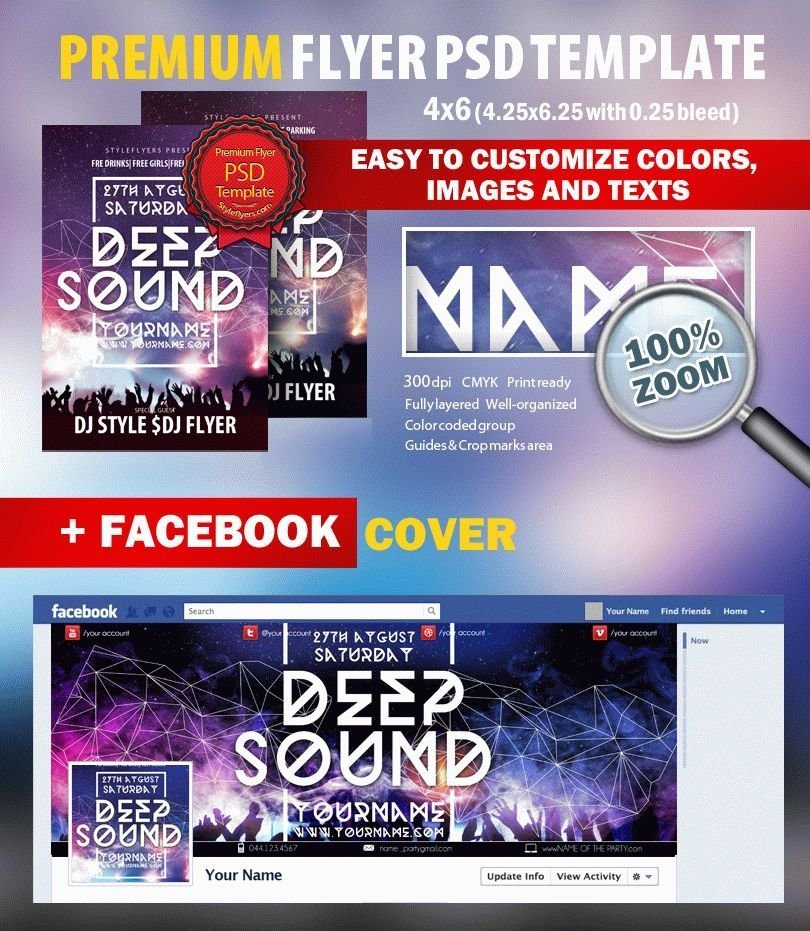 New Mix House Flyer PSD Flyer Template