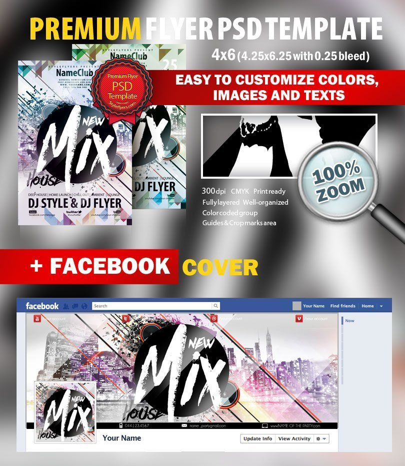 New Mix House Flyer PSD Flyer Template 9018 Styleflyers – House Flyer Template