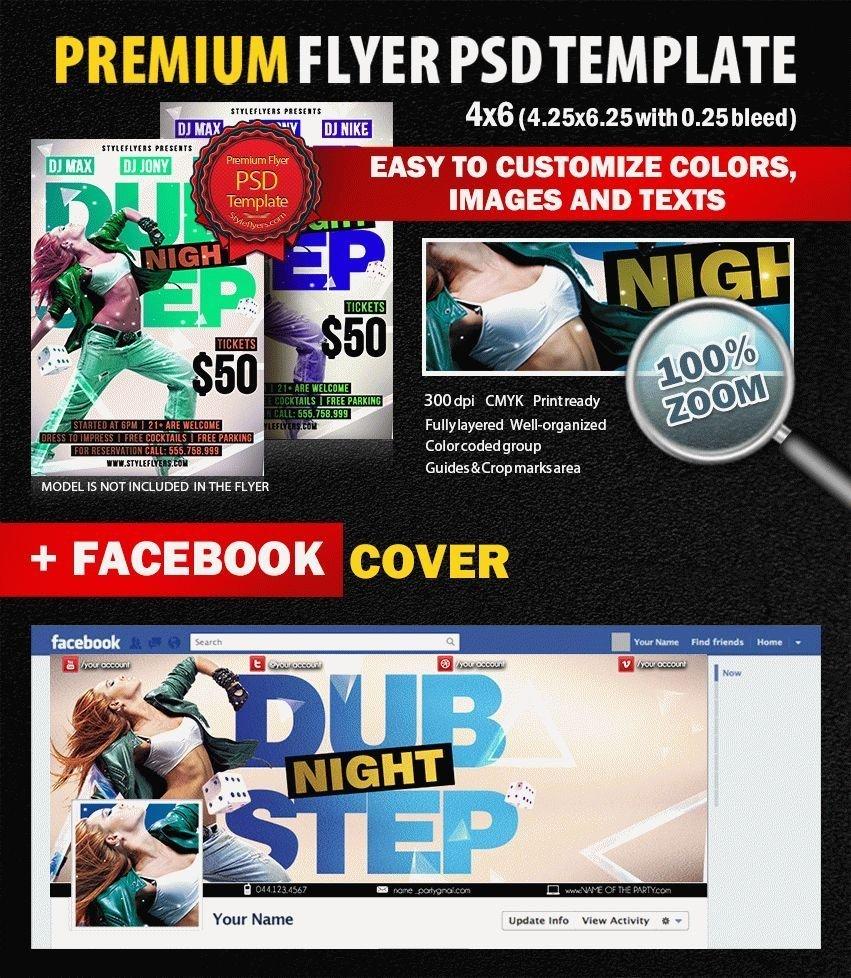 Dub Step Night PSD Flyer Template
