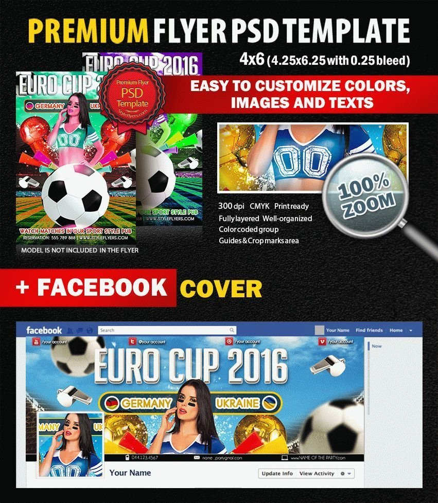 Euro Cup 2016 PSD Flyer Template