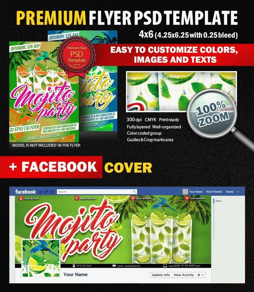 Mojito Party PSD Flyer Template