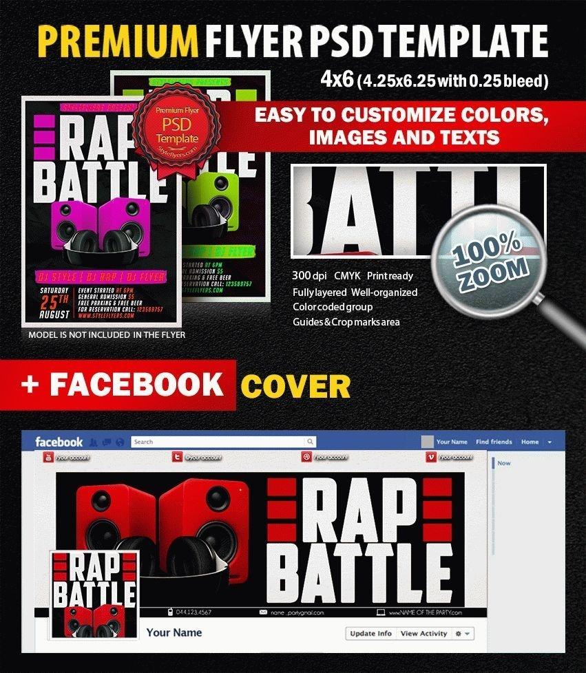 Rap Battle PSD Flyer Template