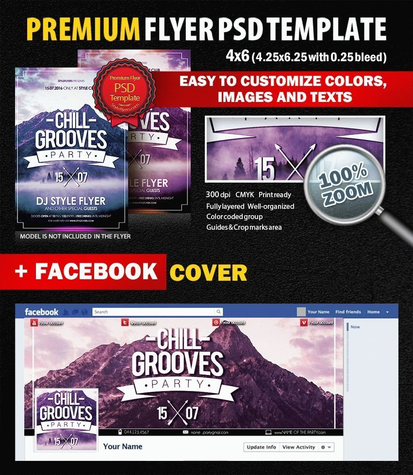 Chill Grooves PSD Flyer Template
