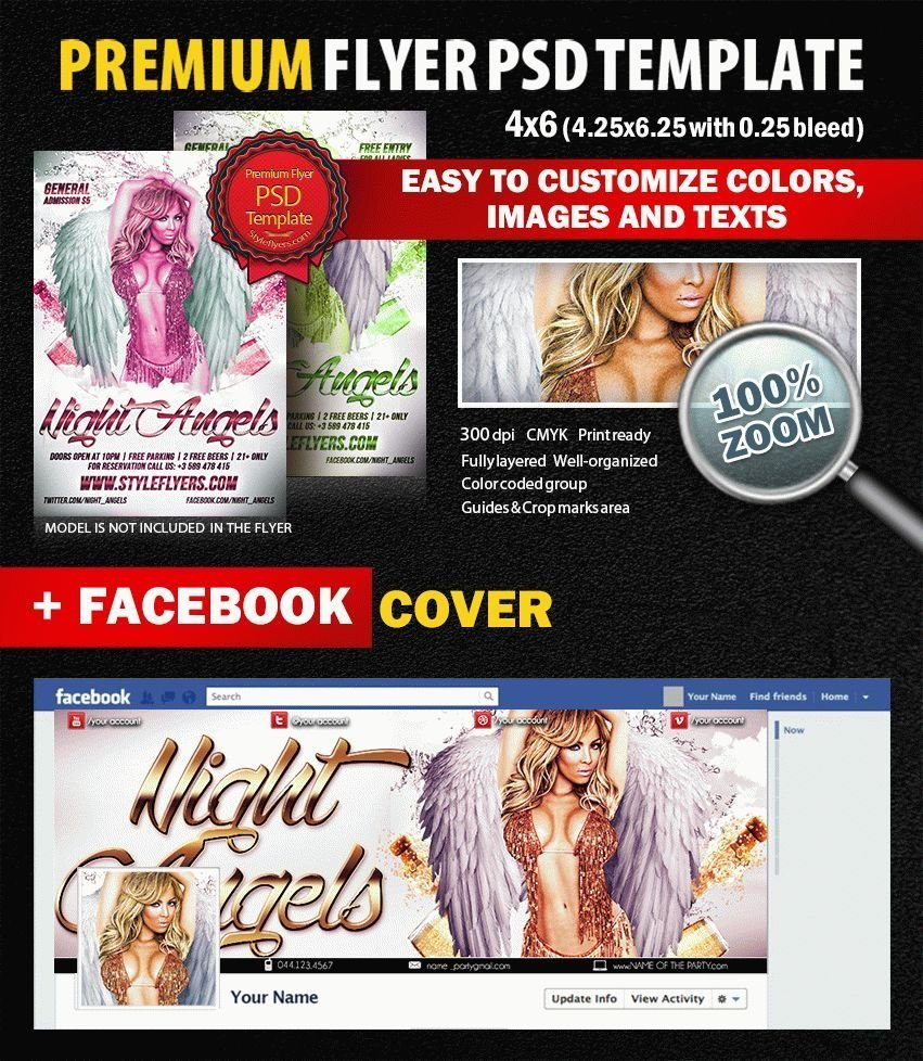 Night Angels  PSD Flyer Template