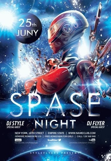 space PSD Flyer Template