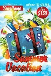 summer-vacation PSD Flyer Template