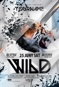 wild PSD Flyer Template