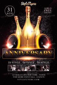 Anniversary Flyer PSD Flyer Template