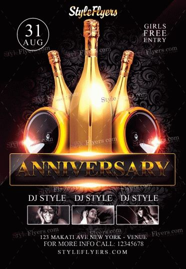 Anniversary Flyer Psd Flyer Template #10308 - Styleflyers