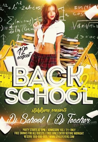 Back To School_watermarks PSD Flyer Template