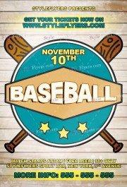 Baseball  PSD Flyer Template