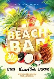 Beach Bar PSD Flyer Template