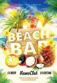 Beach Bar PSD Flyer Template