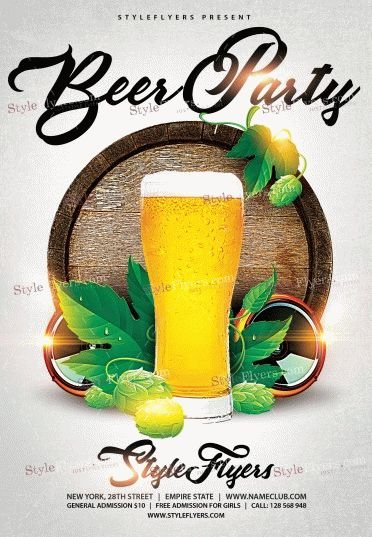 beer party psd flyer template 9770 styleflyers