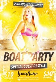 Boat Party PSD Flyer Template