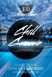 Chill Groove PSD Flyer Template