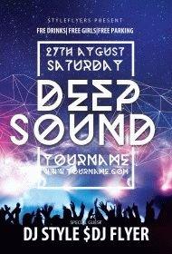 Deep Sound PSD Flyer Template