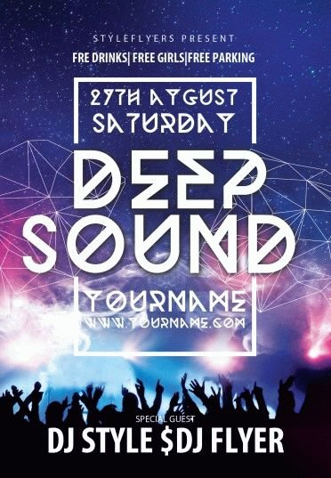 Deep Sound PSD Flyer Template