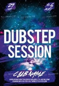 Dubstep Session PSD Flyer Template