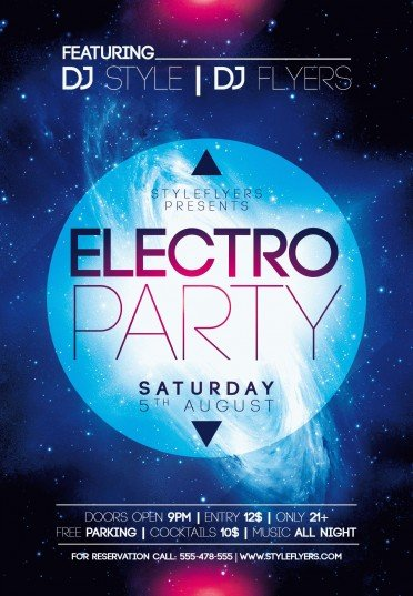Electro-Party-PSD-Flyer-Template