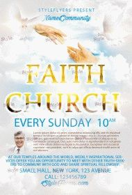Faith Church  PSD Flyer Template