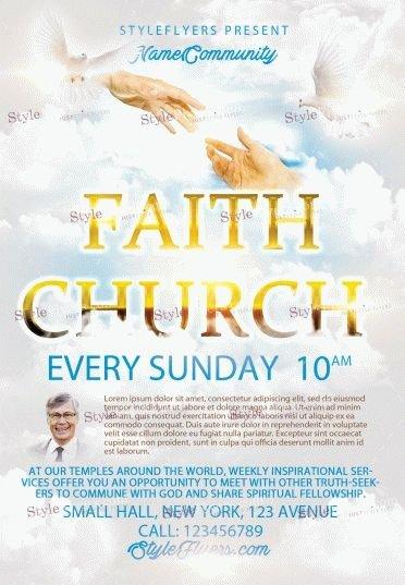 Faith Church  PSD Flyer Template