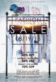 Fashion Sale_watermarks PSD Flyer Template