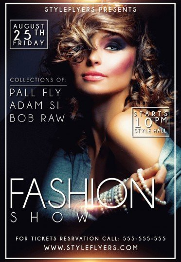 Fashion show psd flyer template 9555 styleflyers for Fashion flyers templates for free