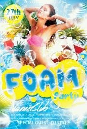 Foam Party  PSD Flyer Template
