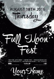 Full Moon Fest PSD Flyer Template
