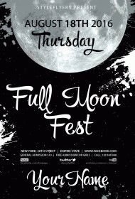 Full Moon Fest PSD Flyer Template