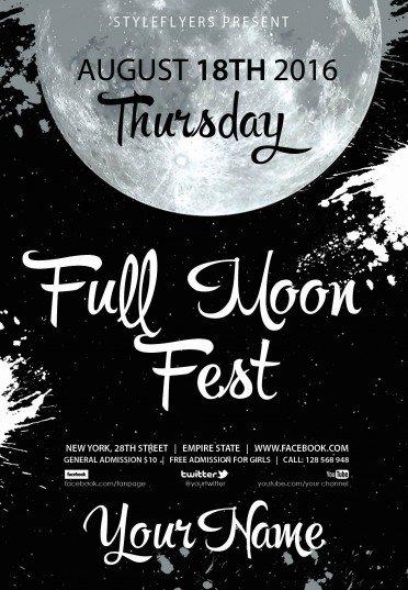 full-moon-fest-psd-flyer-template4556