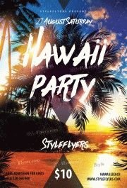 Hawaii-Party-PSD-Flyer-Template