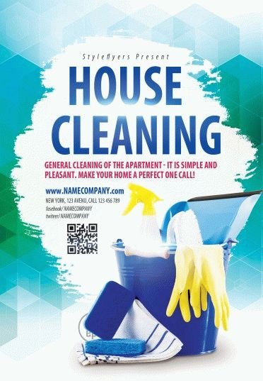 House Cleaning Psd Flyer Template   Styleflyers