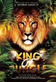 King-Of-Jungle-Faith-Church-PSD-Flyer-Template
