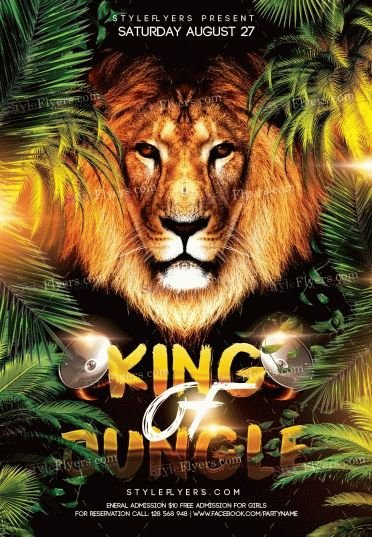 King-Of-Jungle-Faith-Church-PSD-Flyer-Template