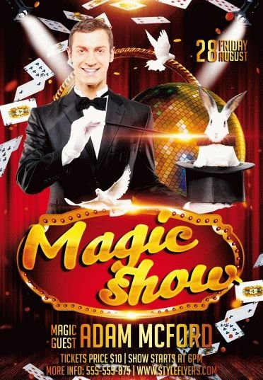 Magic-Show-PSD-Flyer-Template