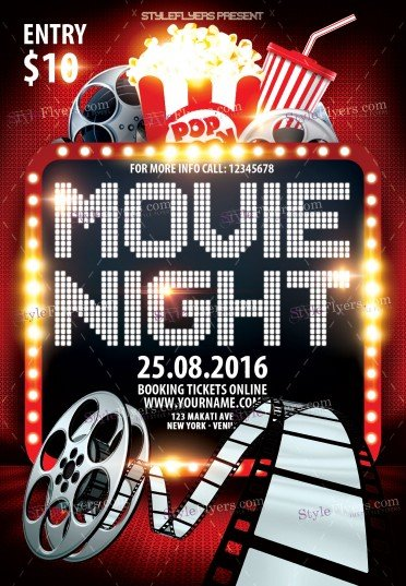 Movie Night Flyers