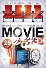 Movie Night PSD Flyer Template