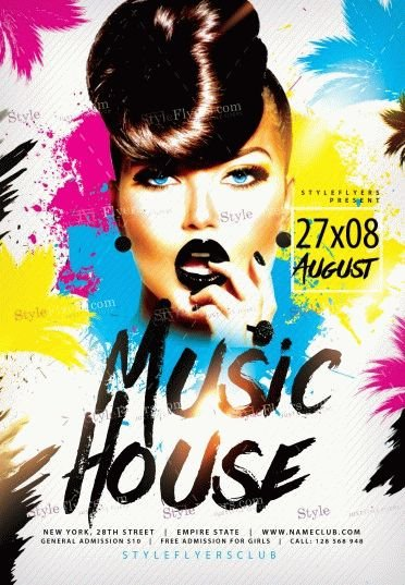 Music House PSD Flyer Template