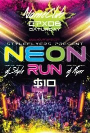 Neon Run PSD Flyer Template