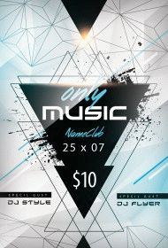 Only Music PSD Flyer Template