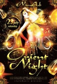 Orient Night PSD Flyer Template