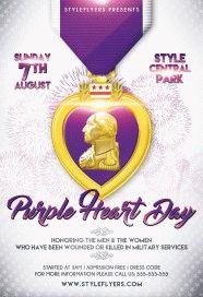 Purple-Heart-Day-PSD-Flyer-Template