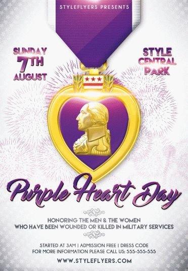 Purple-Heart-Day-PSD-Flyer-Template