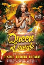 Queen-of-Jungle-PSD-Flyer-Template