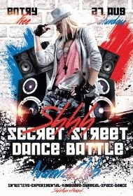 Shhh Secret Street Dance Battle PSD Flyer Template