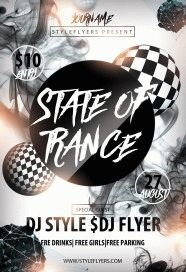 State of Trance PSD Flyer Template