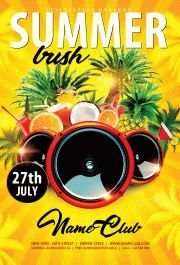 Summer Bush PSD Flyer Template