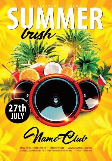 Summer Bush PSD Flyer Template